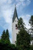 Catholic parish chruch St. Johannes Baptis in Oberstdorf Stock Photo