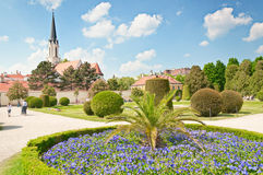 Catholic parish church Maria Hietzing near Schonbrunn palace in Vienna Stock Photography