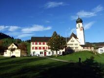 Catholic parish church of St. Martin or Kirche St. Martin, Schwende. Canton of Appenzell Innerrhoden AI, Switzerland royalty free stock images