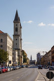 Catholic Parish and University Church Ludwigskirche in Munich, G Stock Photo