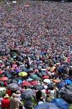 Catholic pilgrims celebrating the Pentecost in Europe Royalty Free Stock Image