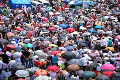Catholic pilgrims celebrating the Pentecost in Szeklerland, Roma Stock Photo