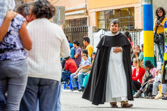 Catholic Priest Carrying A Ritual Stock Images