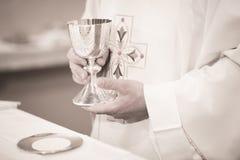 Catholic priest in church wedding marriage ceremony Stock Photos