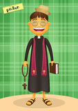 Catholic Priest - Festa Junina, brazilian june party. Happy character for june fest themes Royalty Free Stock Photos