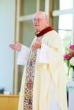 Catholic Priest at Parrish Stock Image