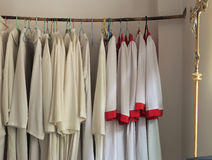 Catholic priest's vestments Stock Photos