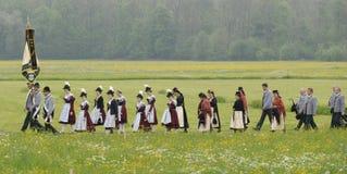 Catholic procession Royalty Free Stock Image