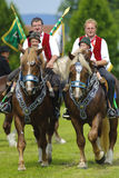 Catholic procession on horse Royalty Free Stock Photos