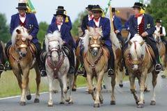 Catholic procession on horse Royalty Free Stock Photography