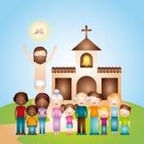 Catholic religion design. Illustration eps10 graphic Stock Photos