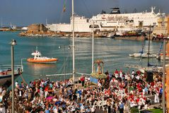 Catholic religious festival on September 27 in Civitavecchia Royalty Free Stock Images
