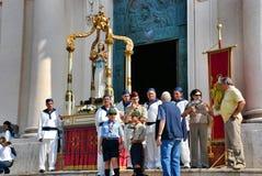 Catholic religious festival on September 27 in Civitavecchia Stock Image