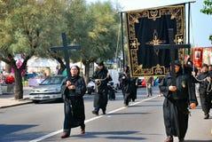 Catholic religious festival on September 27 in Civitavecchia Stock Photography