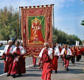 Catholic religious festival on September 27 in Civitavecchia Stock Images