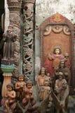 Catholic religous relics vigan philippines. Antique catholic religous relics outside antique store in historic vigan northern philippines Royalty Free Stock Photos