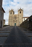 Catholic romanesque style cathedral in Porto Royalty Free Stock Images