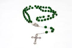 Catholic Rosary beads. Roman Catholic Rosary beads used for praying Stock Photo