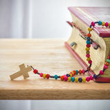 Catholic rosary beads Stock Images