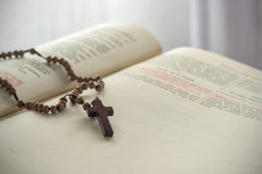 Catholic rosary beads Stock Photo