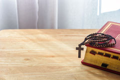 Catholic rosary beads Stock Image