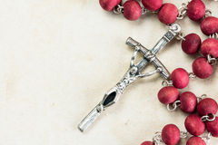 Catholic rosary with copy-space Royalty Free Stock Photos