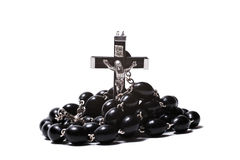Catholic rosary with a crucifix Stock Photo