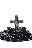 Catholic rosary with crucifix isolated Stock Photography