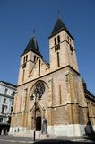 Catholic Sacred Heart Cathedral in Old Sarajevo town Bosnia Hercegovina Stock Photography