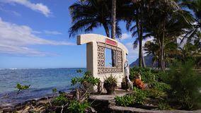 Catholic shrine at the ocean. Catholic shrine in Punaluu, Hawaii Stock Photos