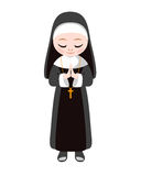 Catholic sister nun. Vector. Catholic sister nun. Religious vector flat illustration stock illustration