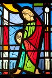 Catholic stained glass Royalty Free Stock Image