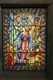 Catholic stained glass window 2 Stock Images