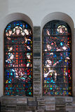 Catholic stained glass window. Church. Royalty Free Stock Photos