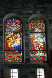 Catholic stained glass window from church. Stock Photography