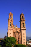 Catholic Taxco Cathedral. Photo of a famous landmark, the Catholic Taxco Cathedral in Guerrero, Mexico Stock Images