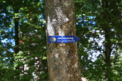 Trail jacobus in neuhausen an der donau in germany. A catholic trail in neuhausen at danube in south germany close to tuttlingen in Europe Stock Photo