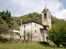 Catholic village church in Italy. Royalty Free Stock Photos