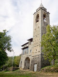 Catholic village church in Italy. Vertical composition. Royalty Free Stock Photography