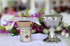 Catholic wedding. Royalty Free Stock Photos