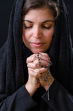 Catholic Woman Praying Stock Images
