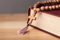 Catholicism. Christian christianity cross speaking pray passion royalty free stock image
