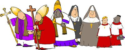 Catholics on parade royalty free illustration