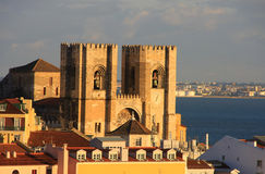 Cathrdral van Lissabon Stock Afbeelding