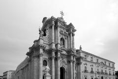 Cathredal principal de Ortigia Fotografía de archivo