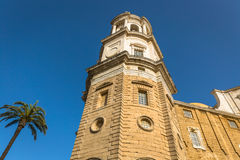 Cathredral in Cadiz, southern Spain Royalty Free Stock Photo