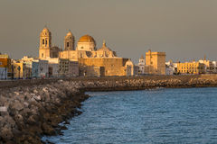 Cathredral in Cadiz, southern Spain Stock Images