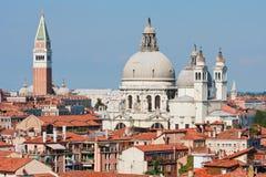 cathredral della玛丽亚致敬圣诞老人威尼斯 免版税库存图片