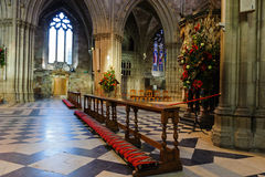 Cathredral interior in Worcester, UK. stock photography