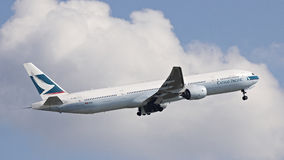 Cathy Pacific Passenger Aircraft Fotografia de Stock